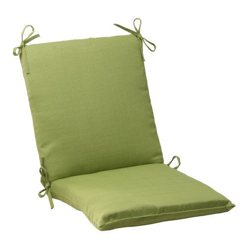 Pillow Perfect Outdoor Forsyth Squared Chair Cushion Green