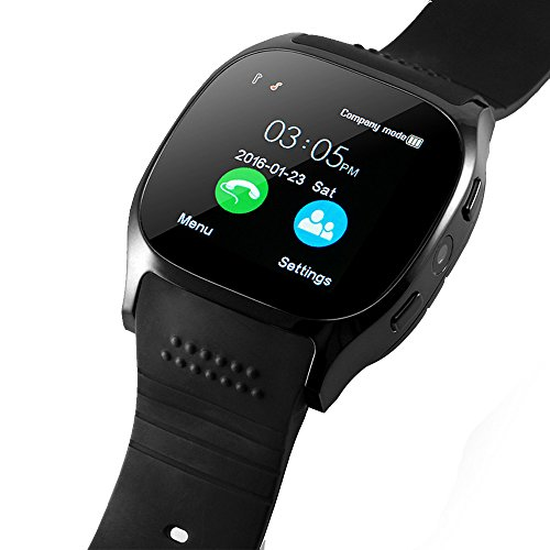 Tdh Bluetooth Smart Watch With Sim Card Slot For Andred 4 0  Smartphone  Black
