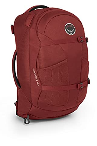 Osprey Packs Farpoint 40 Travel Backpack, Jasper Red, Small/Medium - Lash Point