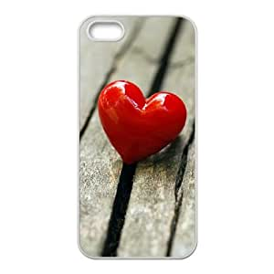 Heart on Wood iPhone 4 4s Cell Phone Case White MS4608313