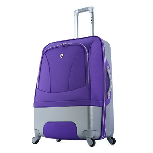 Olympia Majestic 25-Inch Expandable Mid-Size Hybrid Spinner, Plum, One Size by Olympia