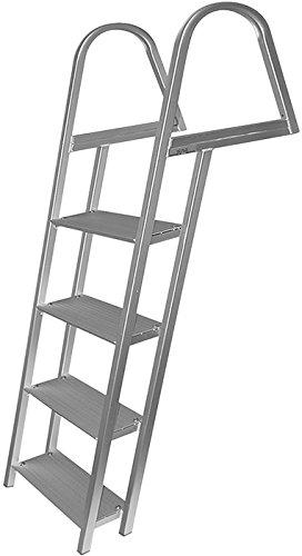 JIF MARINE Products LLC 4 LLC 4 Anodized Aluminum Dock Ladder