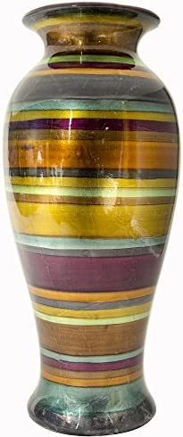 Heather Ann Creations W1039-B75 21 Inches Stripes Ceramic Vase
