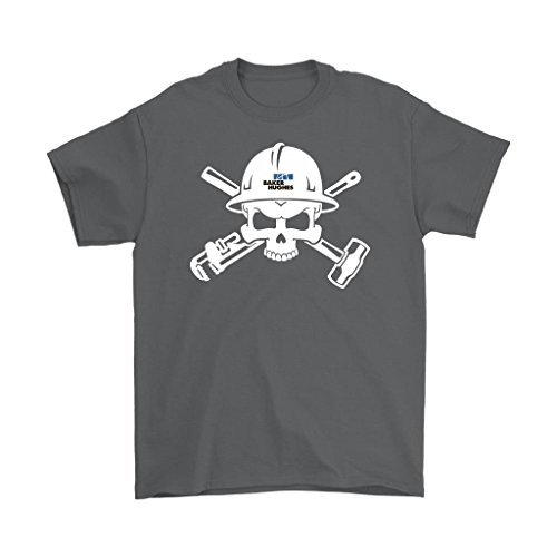 Awesome Emerchency Oilfield Shirts Baker Hughes Logo Skull In Helmet Mens T Shirt  Charcoal  4Xl