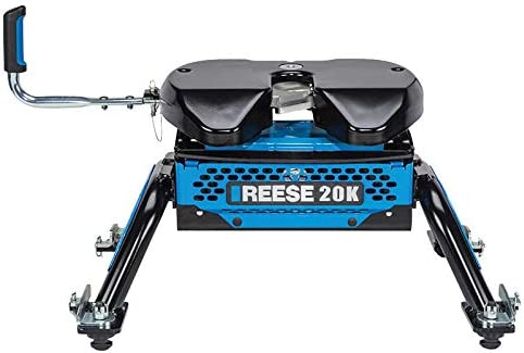 Reese Black 30890 M5 Fifth Wheel Trailer Hitch 20K-GMC//Chevrolet 2500 3500 HD with Factory Rails