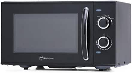 Westinghouse WCMH900B 900 Watt Counter Top Rotary Microwave Oven, 0.9 Cubic Feet, Black