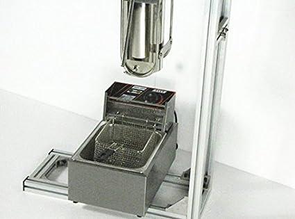 Cafetera de 220 V-240 V 5 L de capacidad y 6 L de freidora de espesor Churro Maker máquina de hacer churros españoles con soporte de trabajo: Amazon.es: ...