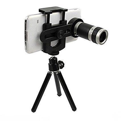 Cellphonez® Universal 8X Zoom Mobile Phone Telescope Camera Lens & Tripod+Adjustable Holder.