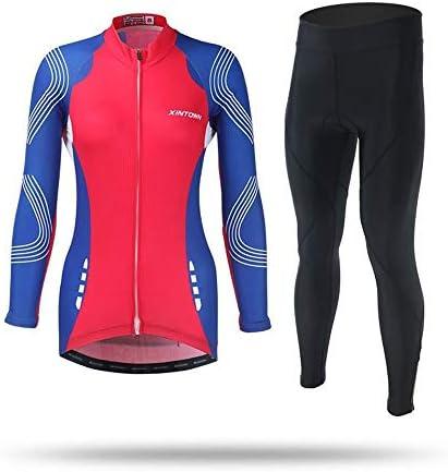 PengShi 夏の女性の長袖自転車服サイクリングスーツロングスーツ PengShi (Color : 1, Size : XXL)