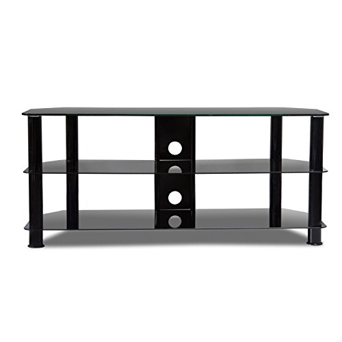 """New 55""""Modern TV Console Stand Flat Screen Media Entertainment Center Storage 3-Tier TV Table"""
