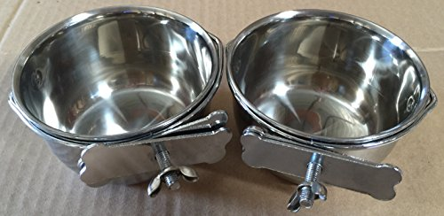 2 of Versatile Stainless Steel Coop Cups For Pet and Animal Cages (4'') by Mcage (Image #1)