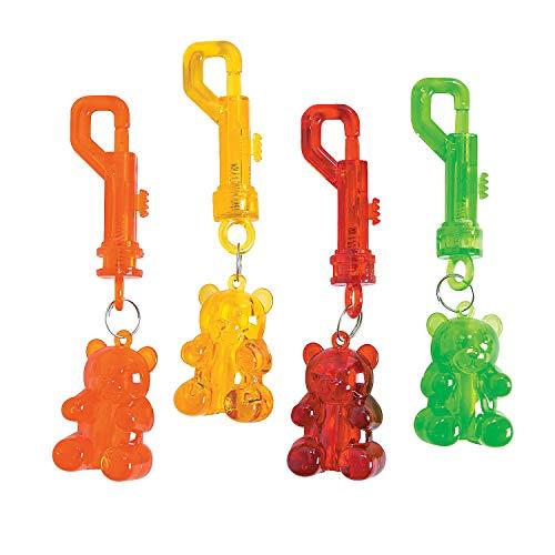 Fun Express - Gummy Bear Key Chain Clip - Apparel Accessories - Key Chains - Novelty Key Chains - 12 Pieces]()