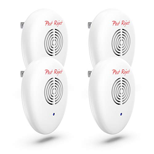 NEW 2018 Ultrasonic Pest Repeller[UPGRADED 4-Pack]-Electronic Pest Control Plug In for Indoor and Outdoor-In Repellent / Anti Mice,Mosquitoes,Cockroaches,Ants,Rodents, Flies,Spiders - Child & Pet Safe