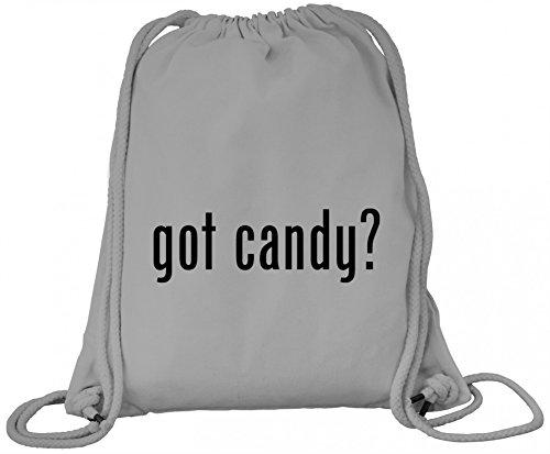 ShirtStreet Halloween Grusel Kostüm Premium Bio Baumwoll Turnbeutel Rucksack Stanley Stella Halloween - Got Candy? Heather Grey KeYTO