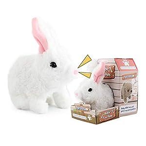 Linier Electronic Pet Interactive Plush Fuzzy Rabbit,Battery Operated Hopping Rabbit, The Bunny Animated Plush Stuffed…