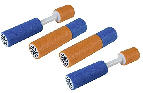 BUSDUGA 2522 Wasserspritze 4er Set aus Schaumstoff , 15cm und 6m Reichweite