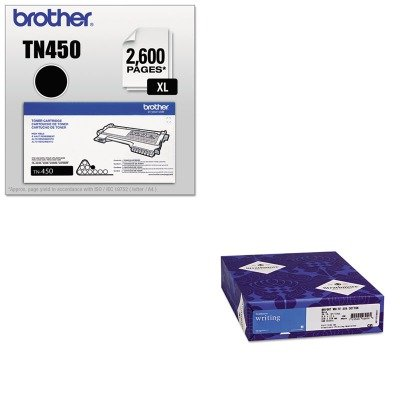 KITBRTTN450STT300068 - Value Kit - Strathmore 25% Cotton Business Stationery (STT300068) and Brother TN450 TN-450 High-Yield Toner (BRTTN450) by Strathmore