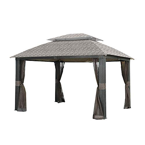 (Garden Winds Replacement Canopy for The Revella Gazebo - Standard 350 - Damask Beige)