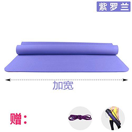 YOOMAT Verbreiterung 120 cm Doppellagige Yogamatte TPE 6 8 10 mm Anti-Rutsch Kinder Hop Dance Matte Gymnastikmatte Matten, 10 (Starter), 185 x 120 cm violett (gebündelt mit dem Paket) 102360