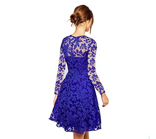 Di Abito Fine Da Blu Donna Di Ballo Vestito Da Vestiti Regalo Decorazione Formale Abbigliamento Festa Donna Incontri Compleanno Anno Casuale Banchetto 15gnZ7wqg