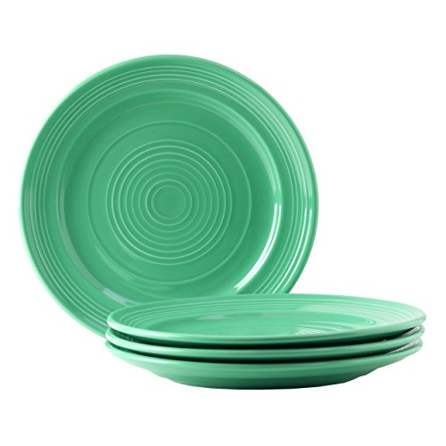 """Tuxton Home Concentrix Dinner Plate (Set of 4), 10 1/2"""", Cilantro Green; Heavy Duty; Chip Resistant; Lead and Cadmium Free; Freezer to Oven Safe up to 500F"""