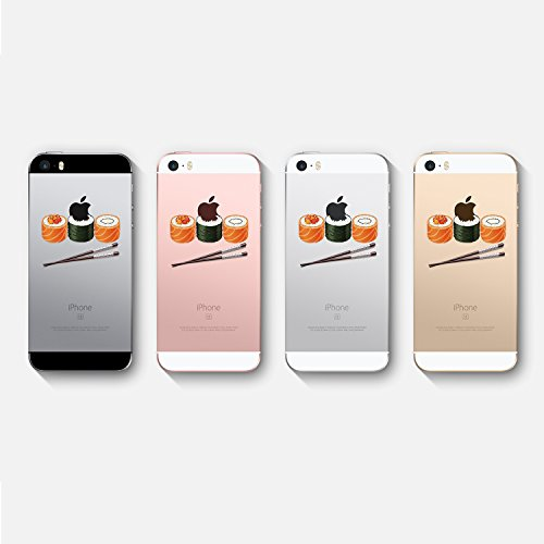 Vanki® iPhone 5/5S/SE Funda, Protectiva Carcasa de Silicona de gel TPU Transparente, Ultra delgada, , Amortigua los golpes Case Cover Para iPhone 5/5S/SE-Pandas y elefantes 3