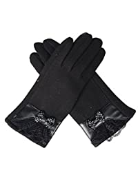 Ms Autumn And Winter Warm Gloves Cold Drive A Car Cycling Butterfly Touch Screen,3