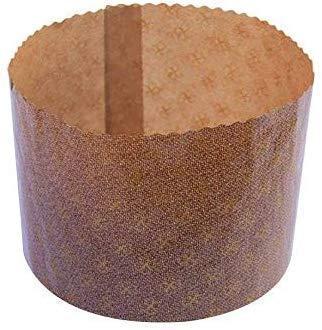 panettone cooking shape Pz 10 stampo per Panettone ALTO forma cottura panettone diametro cm 17,2 alto cm 12,5 da gr 1000 high panettone mold