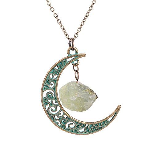Sedmart Crescent Necklace Pendant Gemstone