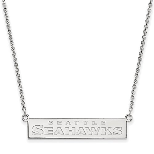 NFL Sterling Silver Seattle Seahawks Small Bar Necklace