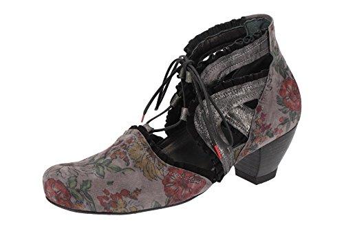 Think! 2-82218-21, Chaussures de Ville à Lacets pour Femme Gris Gris Dunkel-grau