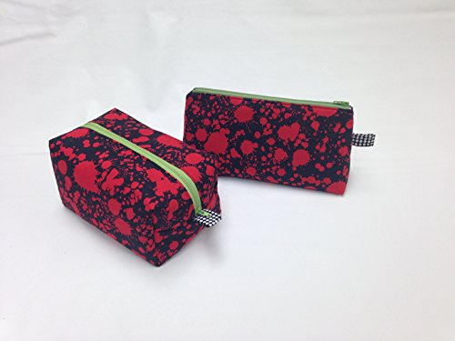 Red & Black Splat! Toiletry/Makeup Bag Set by Candace Sormani