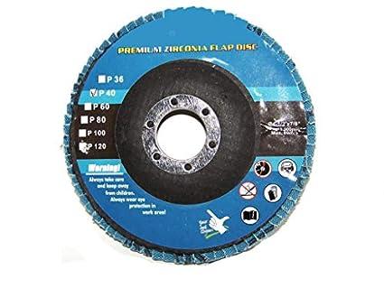 "4-1//2/"" X 7//8/"" Premium Zirconia Flap Disc Grinding Wheel Sand Paper 40 Grit 10"