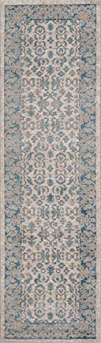 Momeni Rugs KERMAKE-02IVY2376 Kerman Collection, Antique Persian Inspired Traditional Area Rug, 2'3