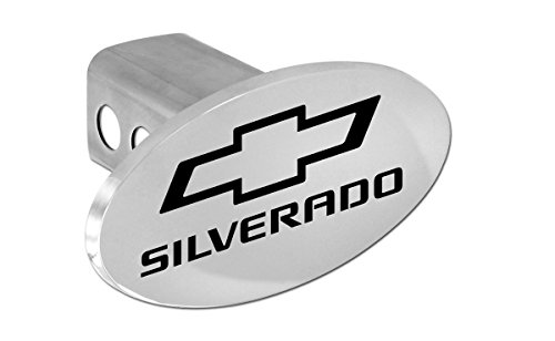 - Chevy Silverado 2012-2016 Bowtie Metal Trailer Hitch Cover Plug (2 inch Post)