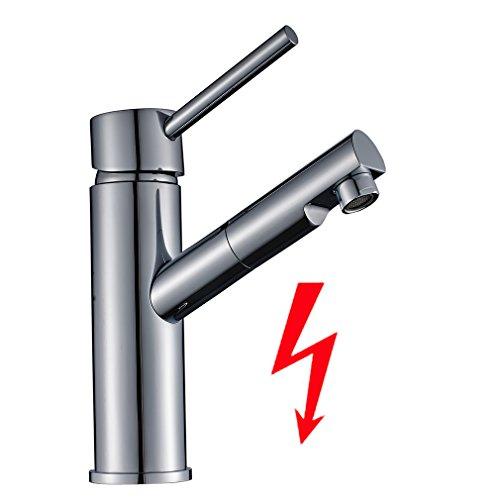 Auralum® Niederdruck Küchenarmatur Wasserhahn Mischbatterie für Küche Armatur Chrom