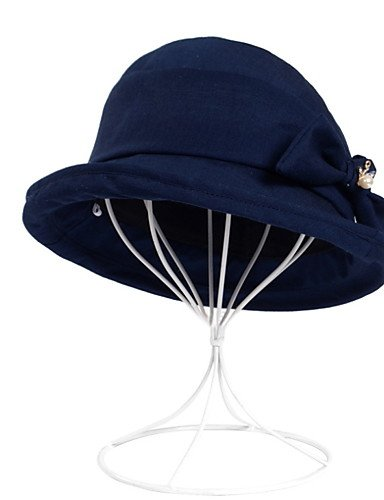ONESIZE Women Fisherman NAVYBLUE GSM Thin Ladies Rhinestone Summer Dome Cloth Caps Foldable Hat UV Sunshade Anti RxxwqF6Bn