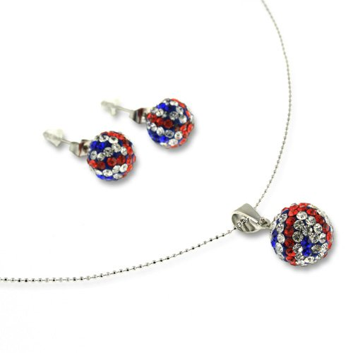 Beautiful Crystal Necklace and Earrings Jewellery Set - Multi, Janeo Jewellery (Halloween Costumes With Next Day Delivery)