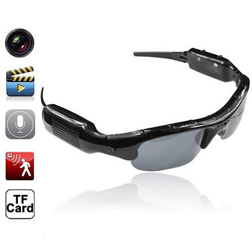 Marketworldcup- HD Glasses S_py Hi_dden Camera Sunglasses Eyewear DVR Video Recorder - Camera For Software Sunglasses