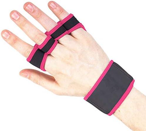 手袋 サイクリンググローブ 夏用指切り 自転車グローブ アウトドア 春夏用指切り 男女兼用 通気性 滑り止め 運動用手袋 SGSJP (Color : レッド, Size : S)