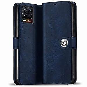 TheGiftKart Flip Cover Back Case for Realme 8 4G / 8 Pro Back Cover | Inside Pockets & Inbuilt Stand | Leather Finish…