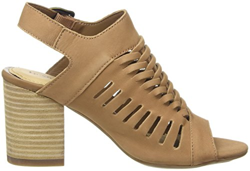 Hush Puppies Sidra Malia, Tacchi Open-Toe Donna, Marrone (Light Tan), 43 EU