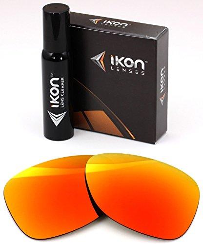 Polarized Ikon Iridium Replacement Lenses For Oakley Dispatch 2 Sunglasses - Fire Orange - Dispatch Oakley