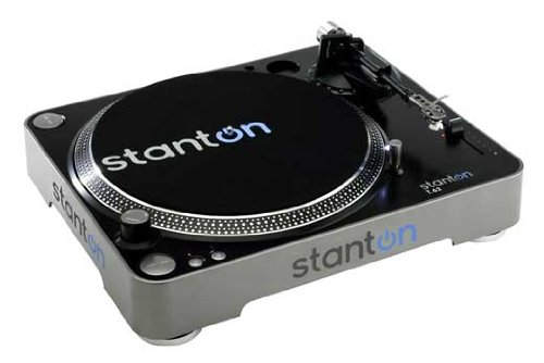 Stanton T62 Straight Arm Direct-Drive DJ Turntable with 300 Cartridge Pre-Mounted