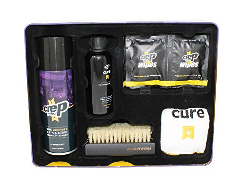Crep Protect Ultimate Sneaker Cleaning Kit - Cure Shoe Cleaner - Shoe Protector - Wipes - Premium Brush