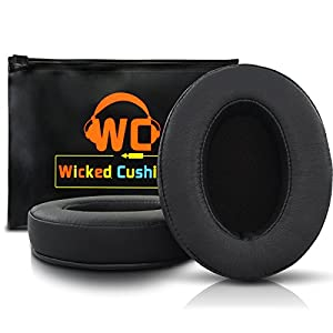 WC Wicked Cushions Upgraded Replacement Earpads for ATH M50X – Fits Audio Technica M40X / M50XBT / HyperX Cloud & Cloud…