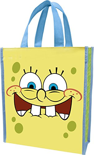 Vandor 21073 SpongeBob Square Pants Recycled Shopper Tote, Small, Multicolored
