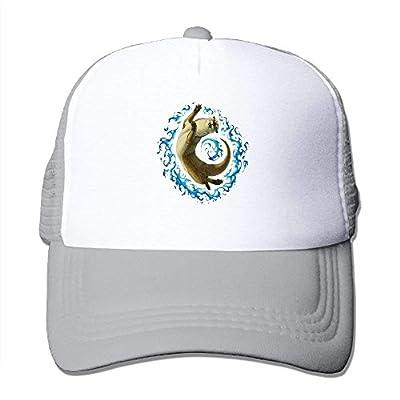 Yoga Cat Mens Adjustable Snapback Baseball Cap Mesh Trucker Hat from cxms