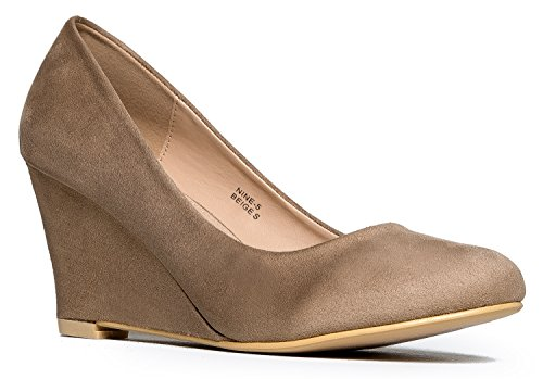 J. Adams Low Wedge Heel – Cute Office Casual Shoe - Easy Low Pump - Basic Slip On Work Wedge - Nine by