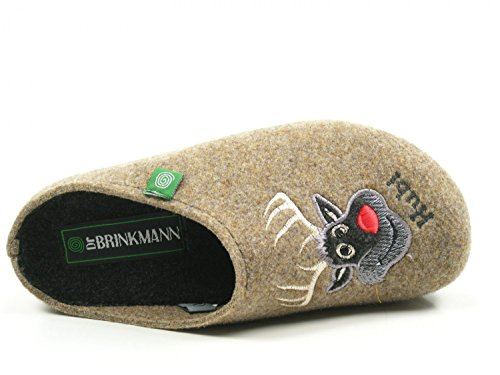 Dr Brinkmann grau Pantolette 9 Damen 320483 BCBn6gPx